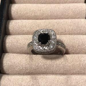 Black Onyx Ring w/White Gold Setting